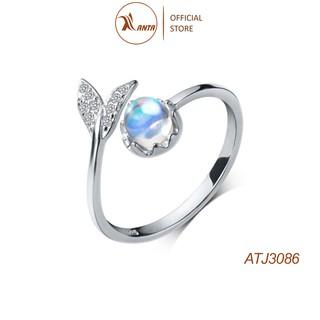 Nhẫn bạc 925 đính đá pha lê hình đuôi cá sáng tạo phong cách , ANTA Jewelry - ATJ3086 thumbnail