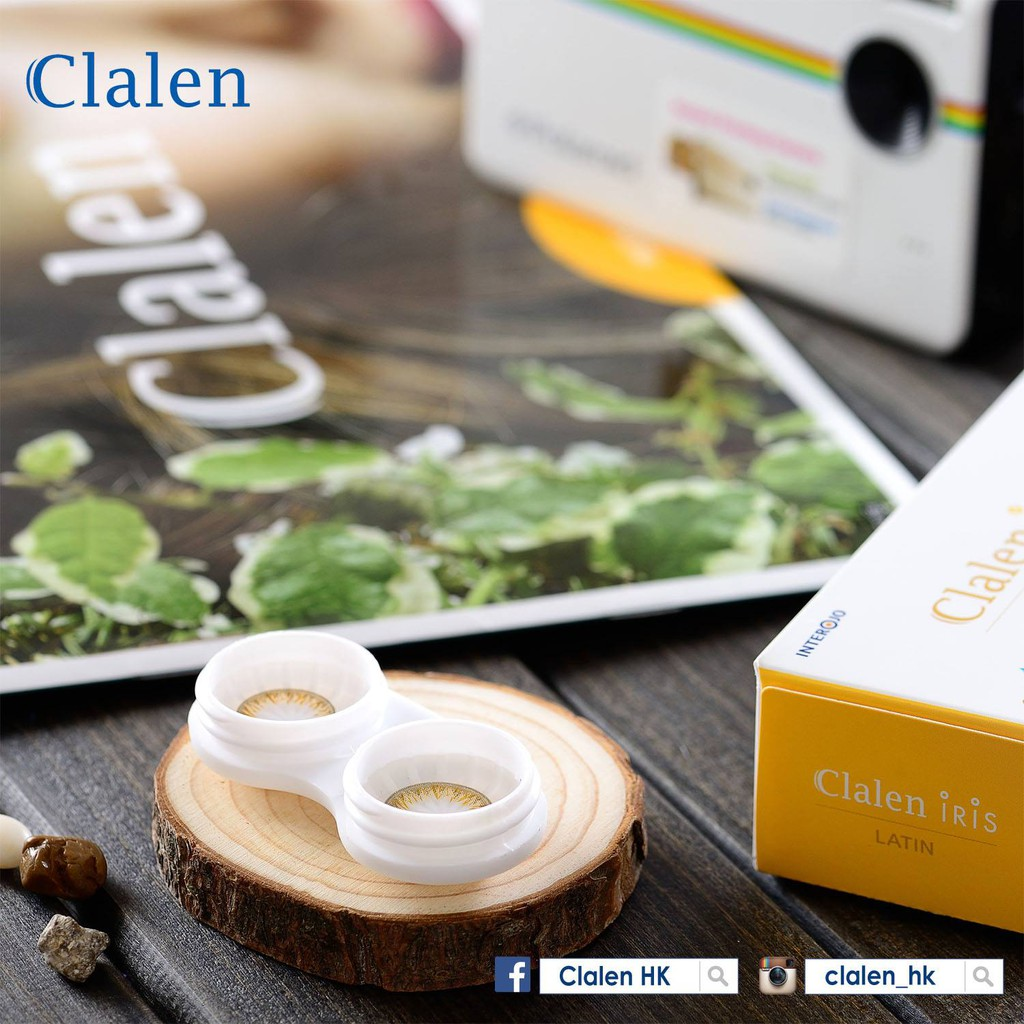 [5 cặp] Kính áp tròng màu LATIN Hàn Quốc dùng 1 ngày Clalen Iris