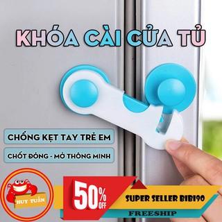 Khóa cài cửa tủ chống kẹt tay loại chốt tròn thông minh (KCT04) bibi90