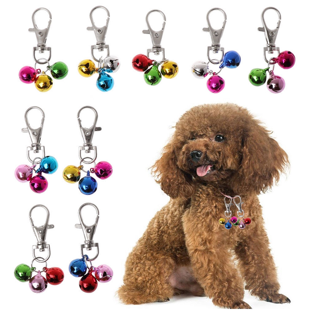Lightweight Loud Collar Polishing Cat Pet Safety Bell Copper Dog Keychain DIY