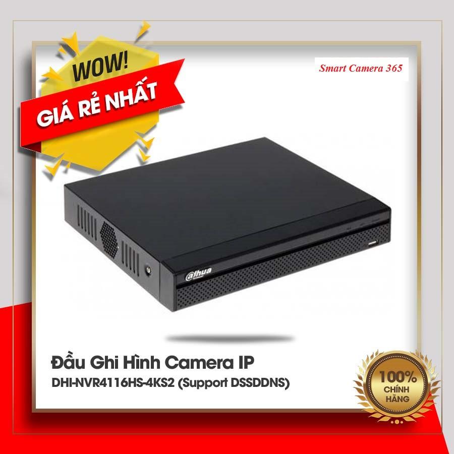 Đầu ghi IP 16 kênh DAHUA DHI-NVR4116HS-4KS2/L- Chính Hãng