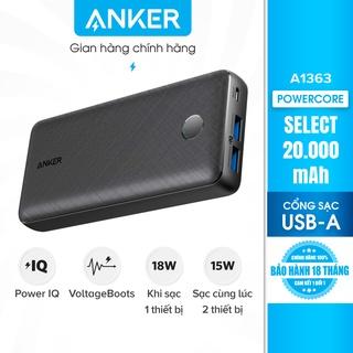Pin sạc dự phòng ANKER PowerCore Select 20000mAh - A1363 thumbnail