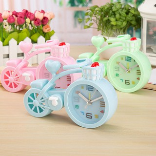 Đồng hồ báo thức để bàn hình xe đạp cực cute