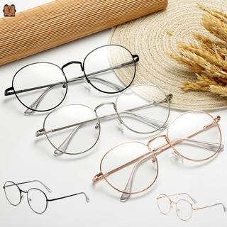 Mắt kính gọng kim loại tròn phong cách vintage cho nữ