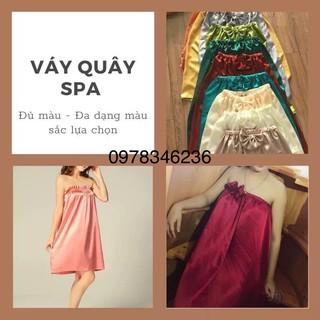 Váy quây spa phi lụa LOẠI ĐẸP, mềm mịn, nhiều màu, hàng chuẩn