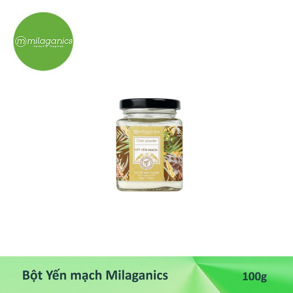 Combo 3 Bột Hũ Milaganics Dưỡng Da: Cám Gạo (90g) + Yến Mạch (90g) + Đậu Đỏ (100g)