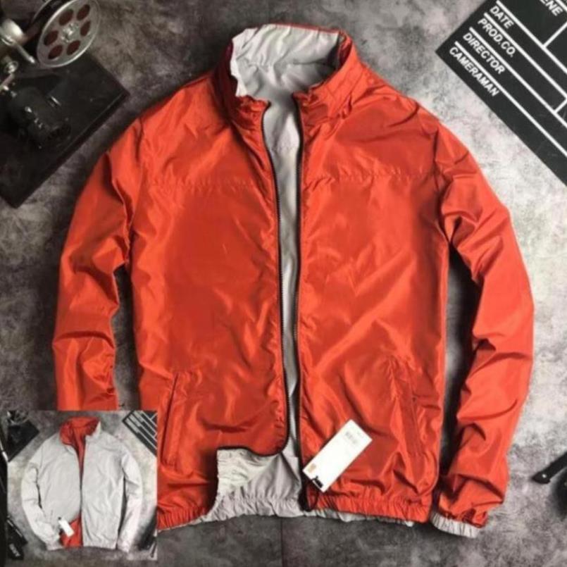 Áo khoác gió nam có mũ 2 lớp chống nước,che nắng, mưa, mũ giấu được vào cổ áo
