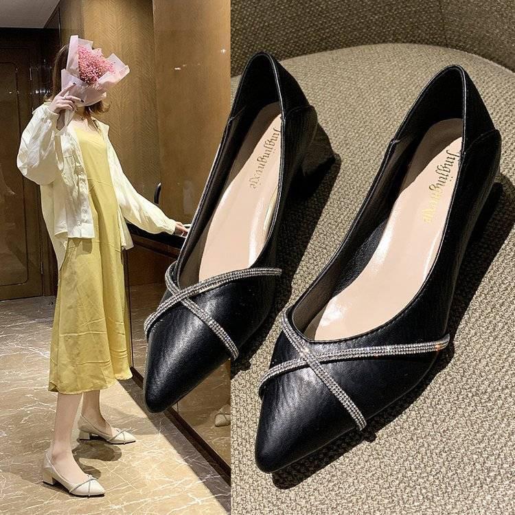 Giày Cao Gót Mũi Nhọn Thời Trang 2020 Cho Nữ