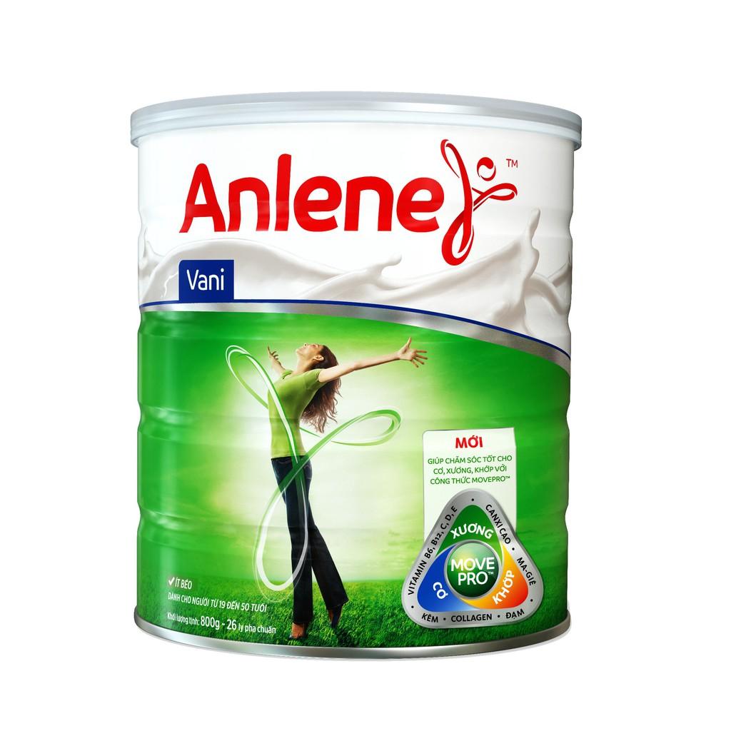 Sữa Bột Anlene Movepro Hương Vanilla lon 800g (từ 19 đến 45 tuổi)