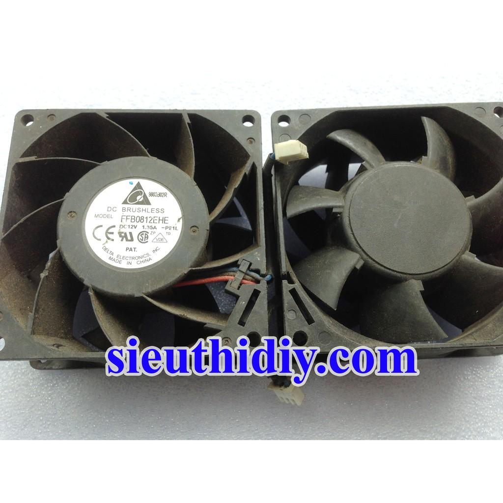 Quạt Fan 8cm Delta FFB0812EHE 12vdc 1.35a 2nd tháo máy