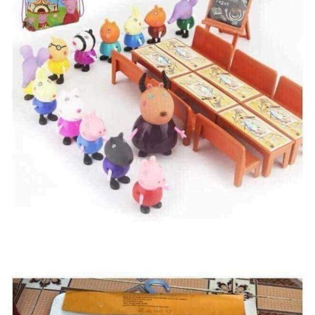 Bộ đồ chơi lợn lớp học pepa