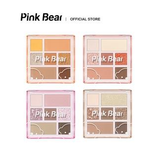 Bảng Phấn Mắt Pink Bear Little World Matte Shimmer 7 Shades 7 Textures Highlighter 10g thumbnail