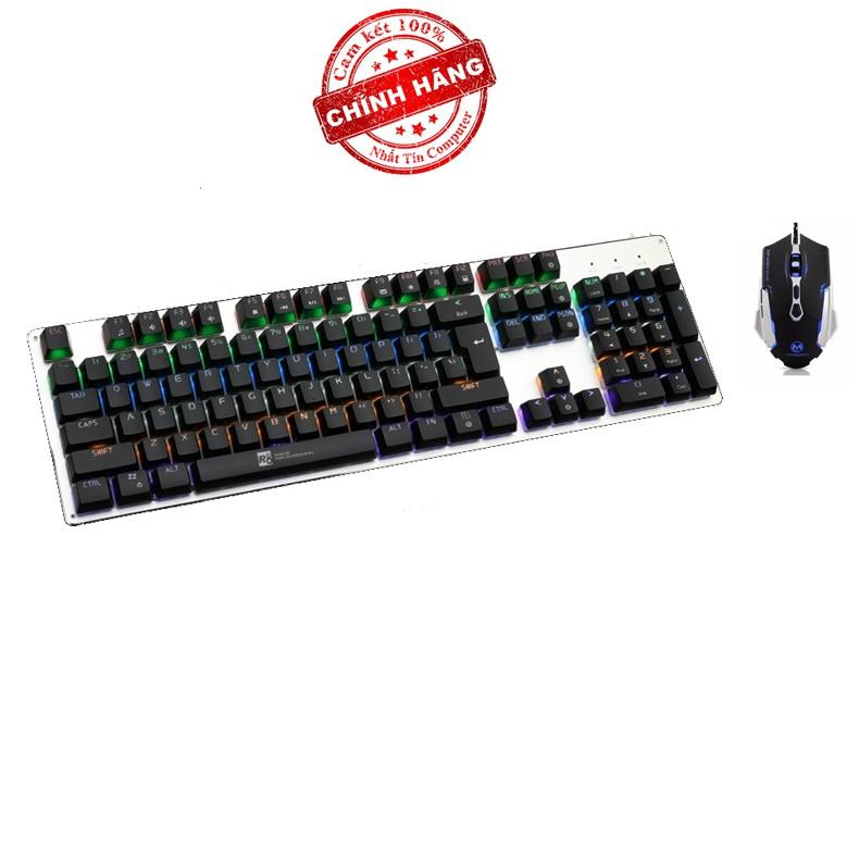 Bộ bàn phím cơ và chuột LED chơi Game R8 G100 - MORZZOR MZ-15 (Đen)