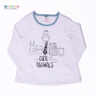 Áo thun dài tay Beddep Kids Clothes in hình cao cấp cho bé gái BP-G01 thumbnail
