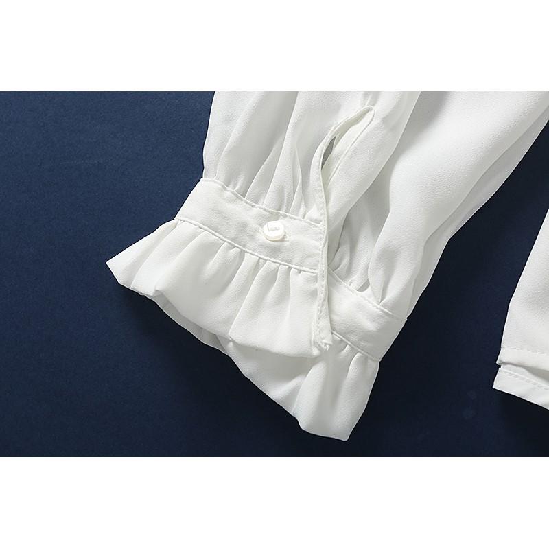 áo sơ mi nữ dài tay cổ bẻ thời trang hàn - 22355170 , 2748294061 , 322_2748294061 , 155500 , ao-so-mi-nu-dai-tay-co-be-thoi-trang-han-322_2748294061 , shopee.vn , áo sơ mi nữ dài tay cổ bẻ thời trang hàn