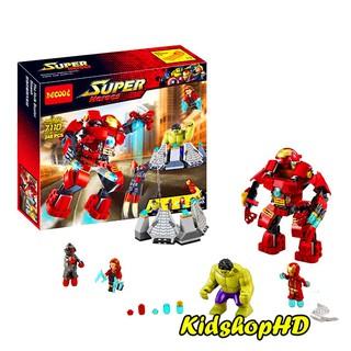 Bộ Lego Lắp Ráp Ninjago Super Heroes Iron Man Chiến Đâu. Gồm 248 Chi Tiết. Lego Xếp Hình Đồ Chơi Cho Bé