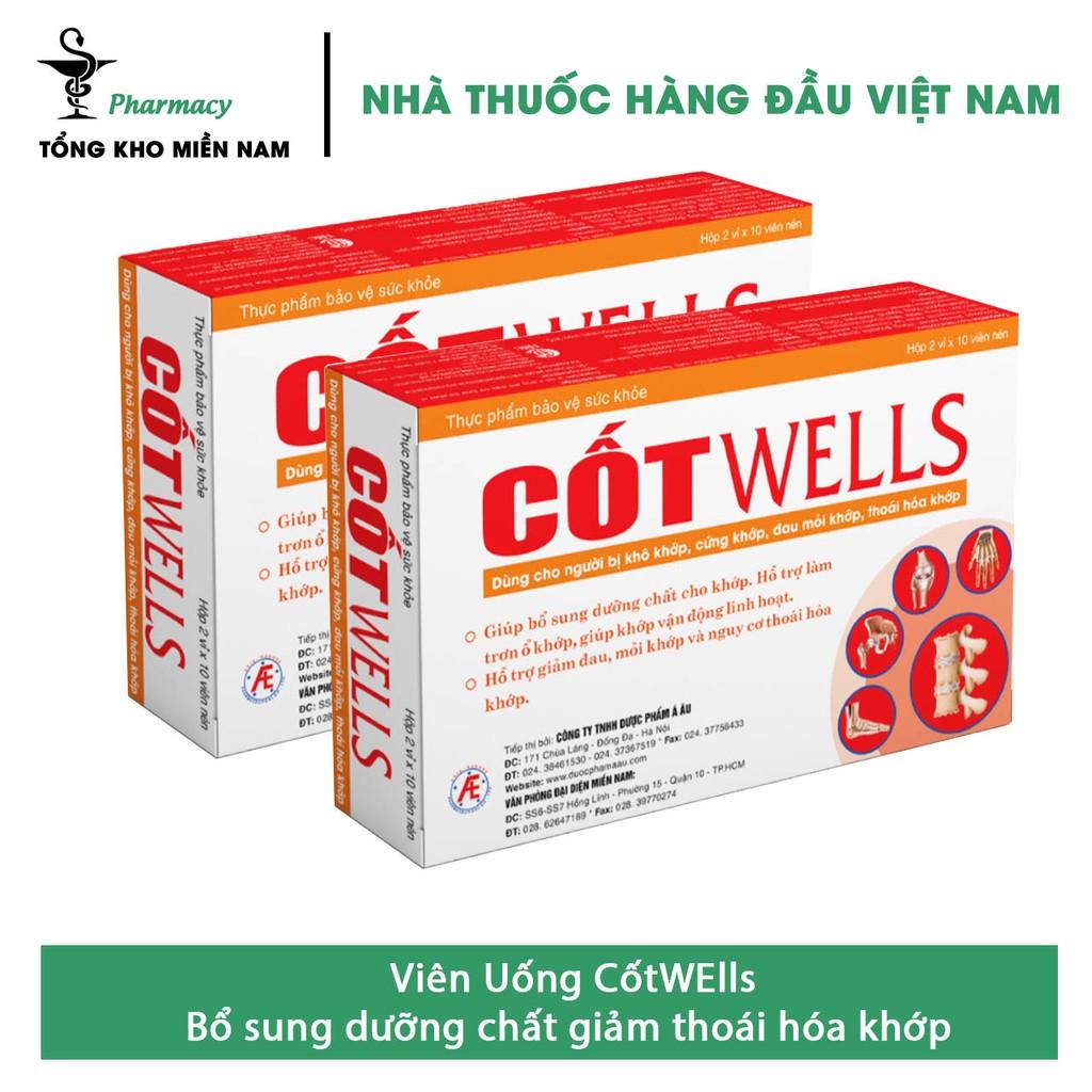 Viên uống CốtWells / Cốt Wells - Hỗ trợ giảm đau, mỏi khớp và nguy cơ thoái hóa khớp – hộp 20 viên – Tổng Kho MiềnNam
