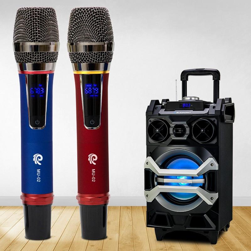 Micro karaoke không dây cao cấp MU02 - phân biệt TONE nam nữ hát cực hay - bảo hành 12 tháng chính hãng