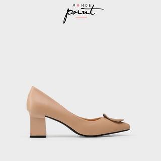 Giày nữ Cao gót Trang trí Monde Point MPWS06335- Kem