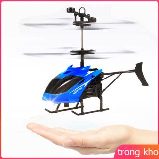 Mini Induction Helicopter Flashing Light Chargeable Aircraft Remote Sensing Plane Toys for Kids