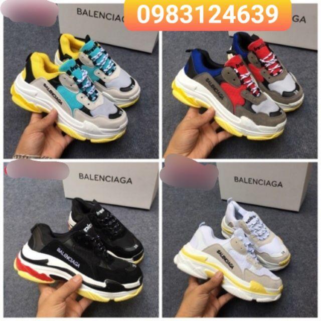 [KHUYẾN MẠI] Giày Thể Thao Balen Triple S Nhiều màu FULL BOX