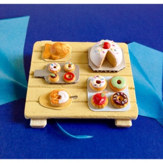 Mô hình thu nhỏ-khay bánh minifood miniature🍩🍩🍩