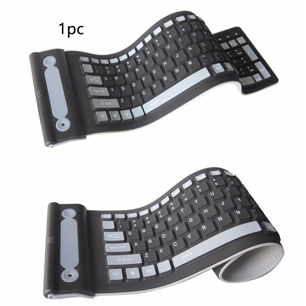 2.4G Rollup Silent Typing Universal Silicone Computer Accessories Flexible Portable USB Wireless Keyboard