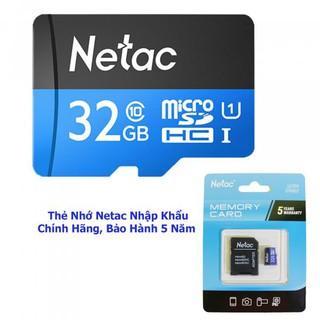 [Mã ELFLASH5 giảm 20K đơn 50K] Thẻ Nhớ Netac U1 Dung Lượng 32 GB - Chính Hãng - Bảo Hành 5 Năm