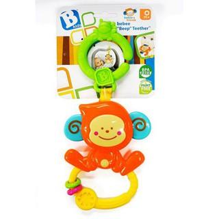 [HOT] Chú khỉ tinh nghịch xúc xắc, gặm nướu kèm treo nôi cũi, xe đẩy – BPA Free B KIDS 004499