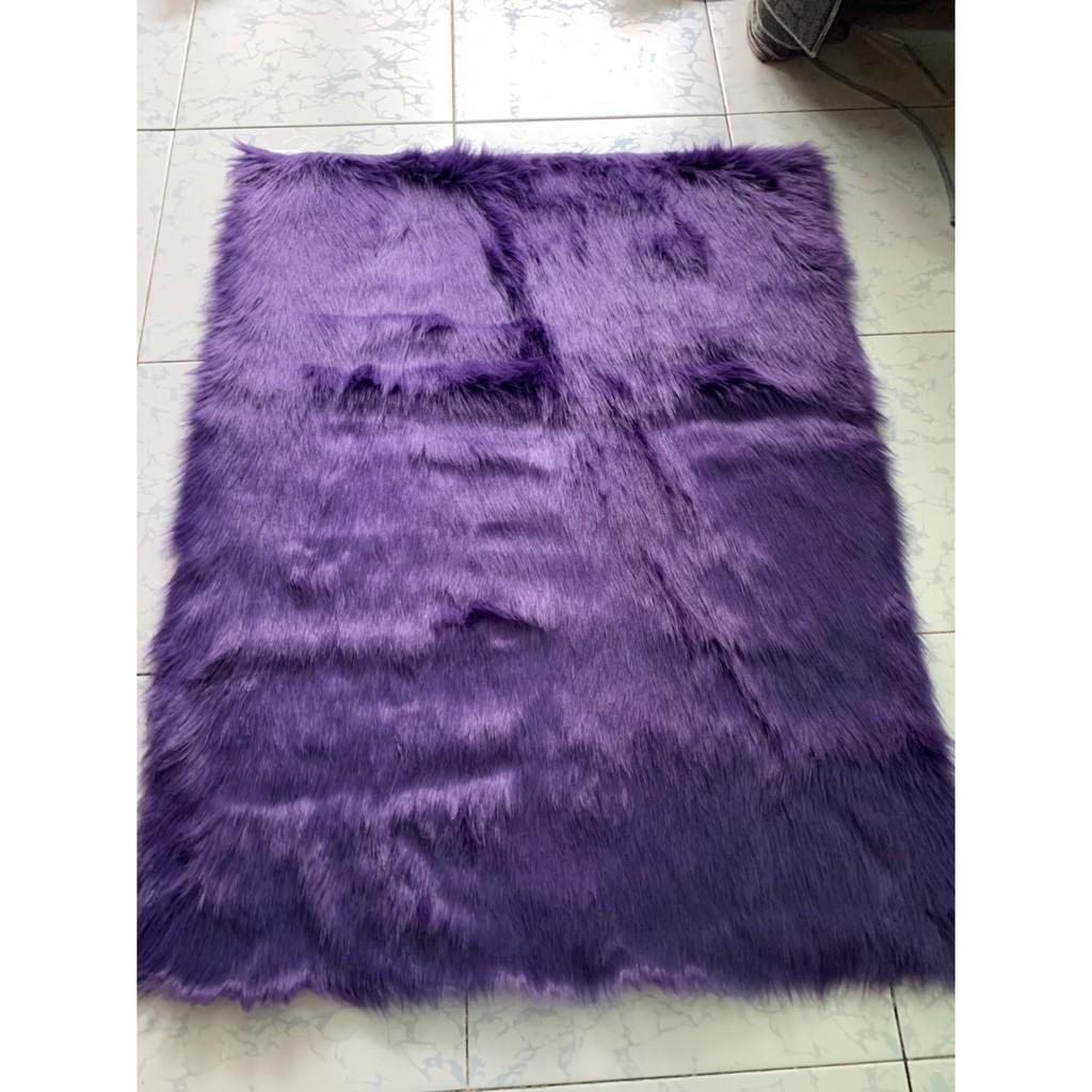 Thảm lông trải bàn trang điểm TÍM THAN ,Thảm lông trang trí bàn trang điểm, thảm lông chụp ảnh sản phẩm, nail, lót sàn
