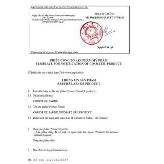 Gel vệ sinh phụ nữ Corine De Farme Intimate gel Protect 250ml Làm Sạch Và Giảm Cảm Giác Khó Chịu Vùng Kín 7