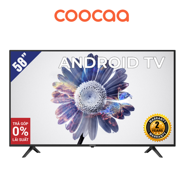 Android SMART TV 4K UHD Coocaa 58 inch Wifi - Model 58S6G (Model