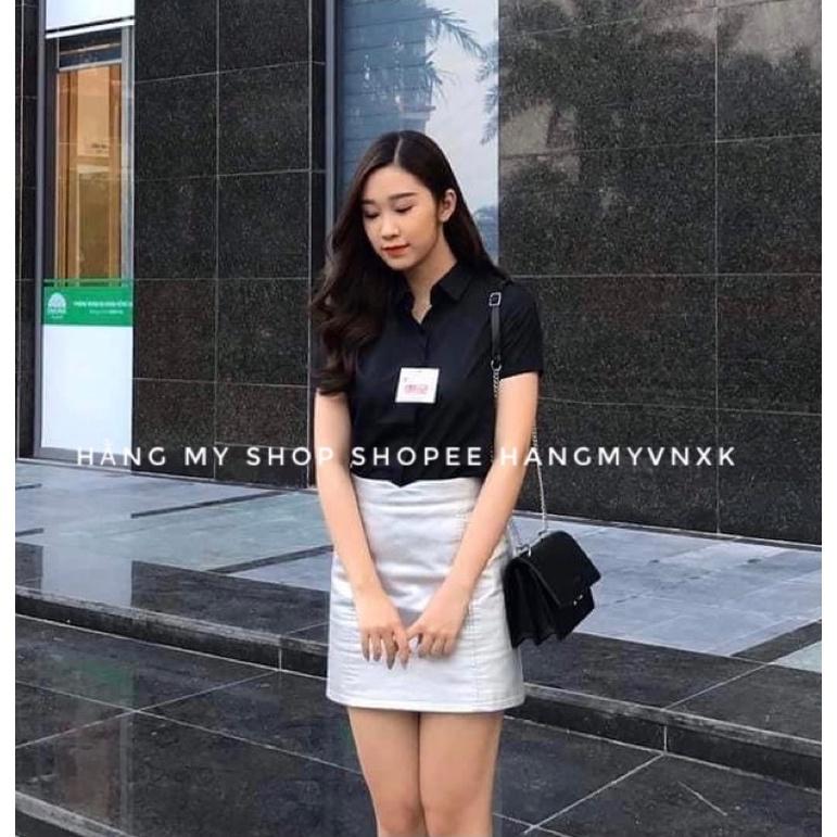 Mặc gì đẹp: Xinh tươi với (Size 40-60kg) Áo Sơ Mi Nữ Công Sở Dài Tay Ngắn tay 4 Màu chất đẹp không nhăn