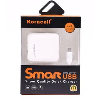 Bộ sạc 2,4A koracell USB thumbnail