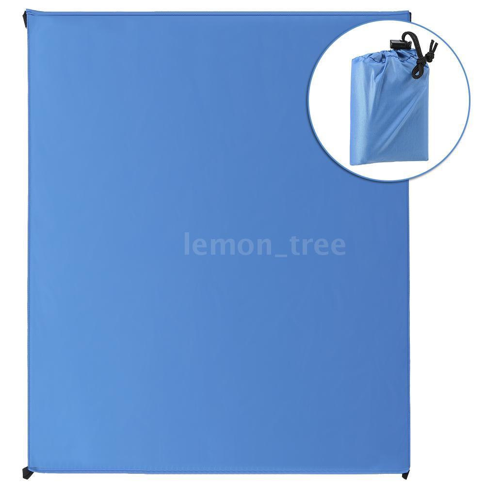 Waterproof Pocket Beach Blanket Lightweight Compact Outdoor Picnic Mat Ground Sheet Tarp