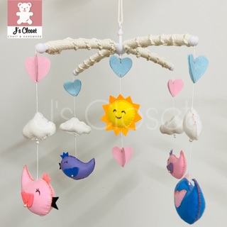 Bộ treo nôi (treo cũi) hình chim handmade siêu dễ thương