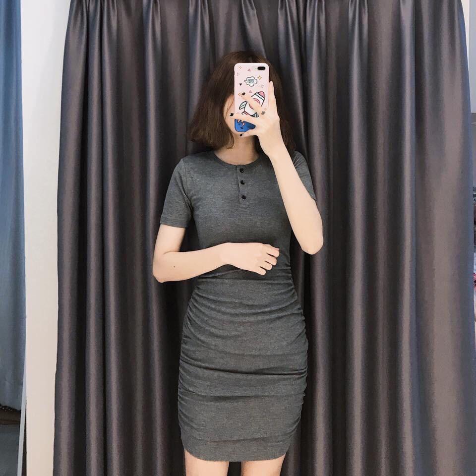 Đầm Ôm Body Cổ Trụ Co Dãn Đủ Màu