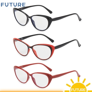 🎈FUTURE🎈 Fashion Reading Glasses Women & Men Readers Eyewear Presbyopia Eyeglasses Ultra-clear Vision Round Floral Frame Anti Glare Vintage Spring Hinge red black/red/red