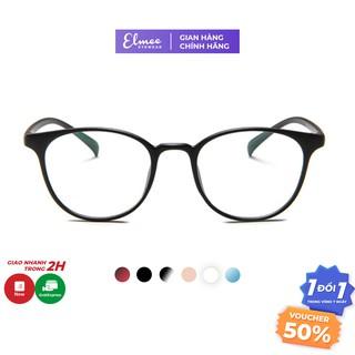 Gọng kính cận nhựa dẻo dáng tròn vừa Elmee màu sắc basic - có cắt mắt cận thumbnail