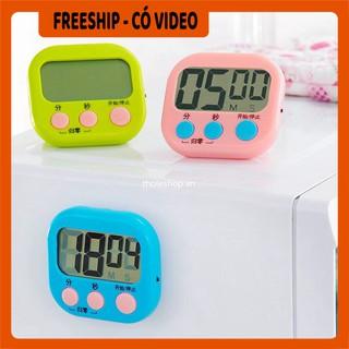 Đồng hồ hẹn giờ BH 1 THÁNG  Đồng hồ đếm ngược thời gian có giá đỡ, có thể gắn lên tủ lạnh 8771
