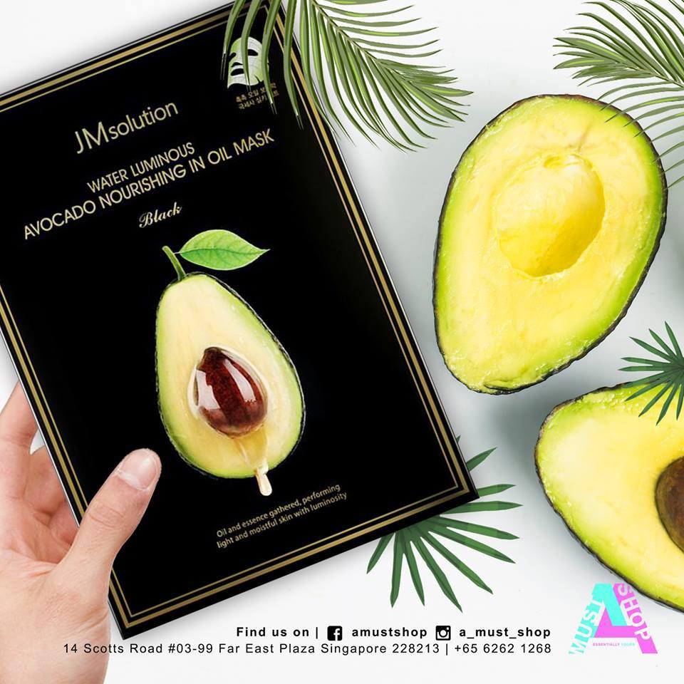 [Hàng Cao Cấp] Hộp 10 Miếng Mặt nạ Bơ cho da khô và bị nhăn JMSolution Water Luminous Avocado Nourishing In Oil Mask