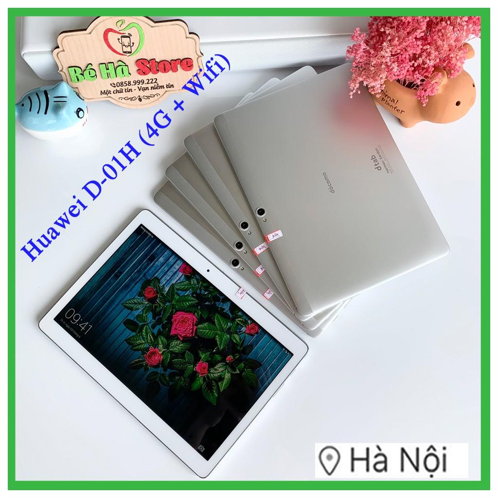 Máy Tính Bảng Huawei Dtab 10.1 D-01H 16Gb (Wifi + 4G) Docomo Mediapad - FullHD 4 Loa Harman Kardon