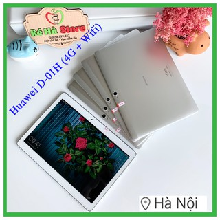 Máy Tính Bảng Huawei Dtab 10.1 D-01H 16Gb (Wifi + 4G) Docomo Mediapad – FullHD 4 Loa Harman Kardon