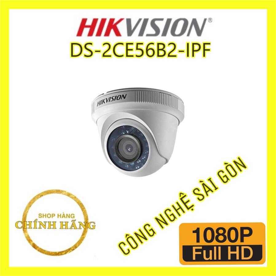 Camera HD-TVI Dome 4 in 1 hồng ngoại 2.0 Megapixel HIKVISION DS-2CE56B2-IPF - 23014121 , 2703376465 , 322_2703376465 , 362000 , Camera-HD-TVI-Dome-4-in-1-hong-ngoai-2.0-Megapixel-HIKVISION-DS-2CE56B2-IPF-322_2703376465 , shopee.vn , Camera HD-TVI Dome 4 in 1 hồng ngoại 2.0 Megapixel HIKVISION DS-2CE56B2-IPF