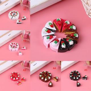 ♑BEW♑ 10Pcs Mini fake food model dollhouse toy resin cake toy [OL]