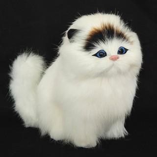 Plush Simulation Cat Electronic Pet Doll Imitation Animal Toy with Meow Sound