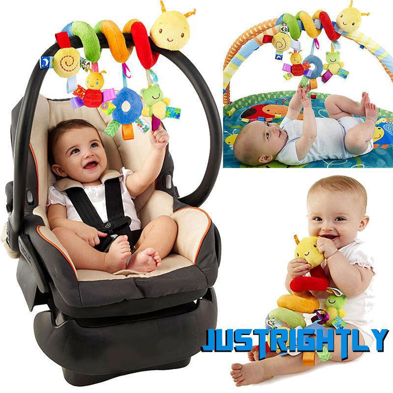 Jry₪New Activity Spiral Stroller Car Seat Travel Lathe Hanging Toys Baby Rattles Toy