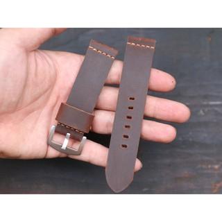 Dây đồng hồ da bò sáp handmade cực bụi tặng khóa và chốt