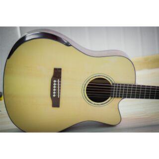 Guitar Điệp TNT vát cạnh khảm miệng