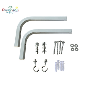Projector Curtain Hook Projection Screen Wall Mount L-Shaped Hook